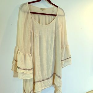 Oh Gussie! Crinkly Crepe Muslin Tunic 2X